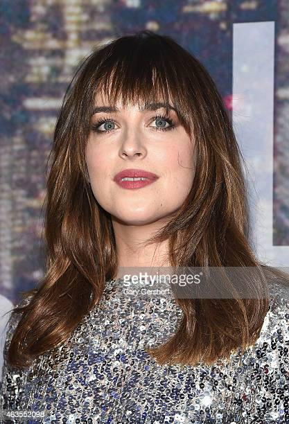 Actress Dakota Johnson attends the SNL 40th Anniversary Celebration at Rockefeller Plaza on February 15 2015 in New York City