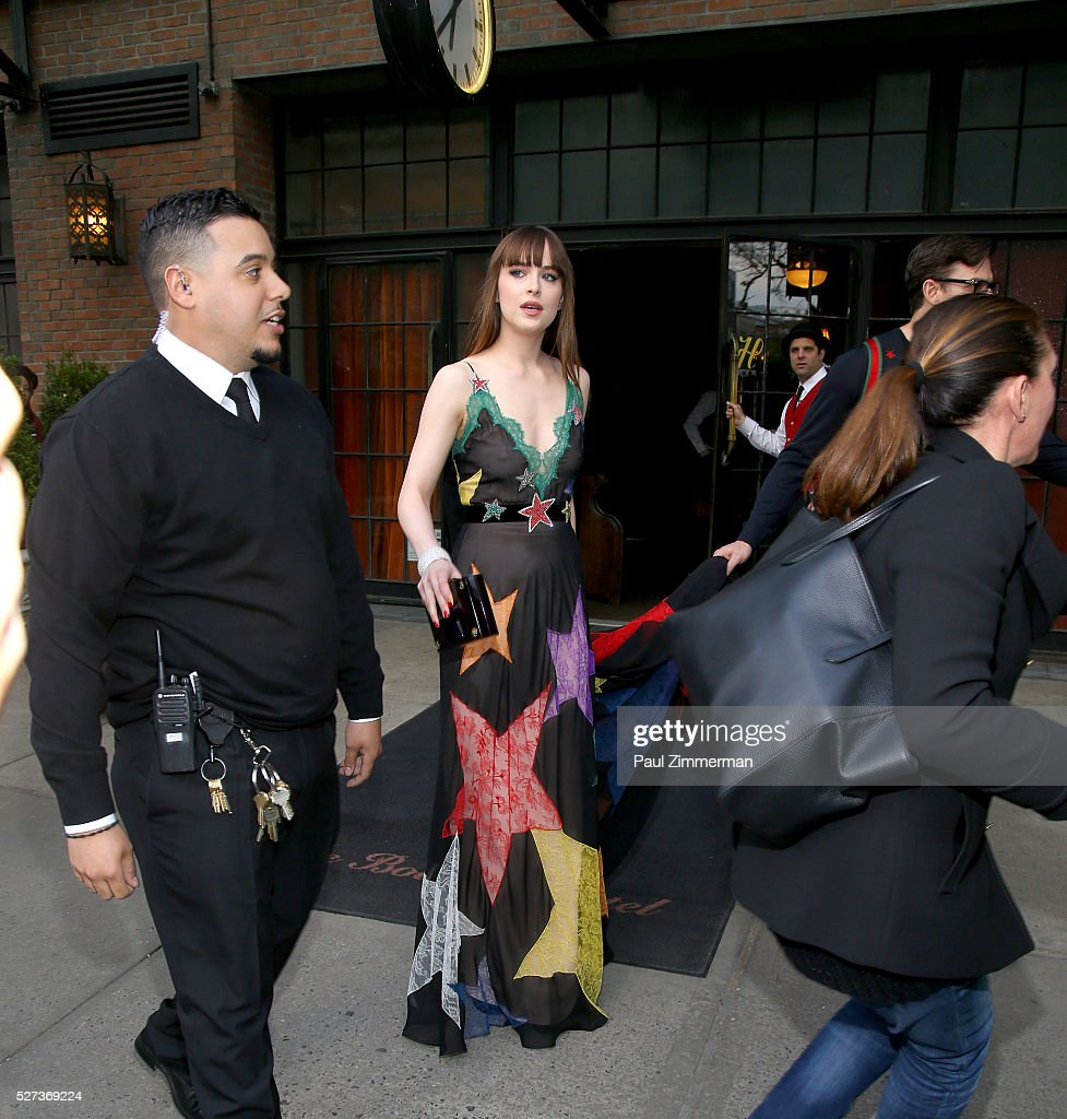 Actress Dakota Johnson is seen departing the Bowery Hotel on May 2 2016 in New York City