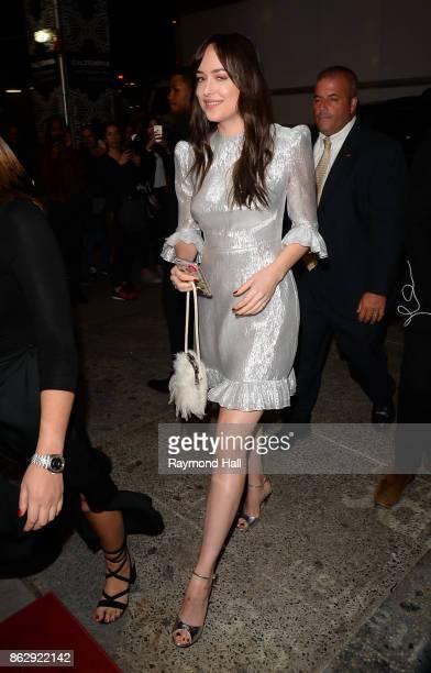 Actress Dakota Johnson is seen in Midtown on October 18 2017 in New York City