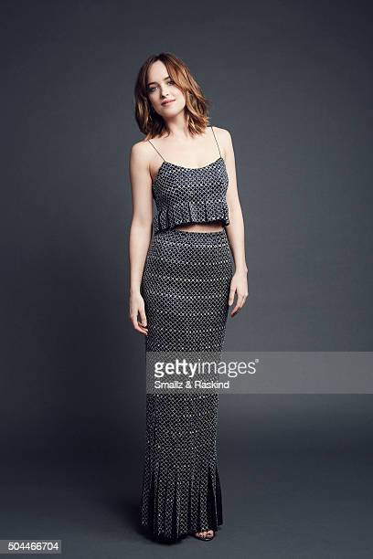 Actress Dakota Johnson poses for a portrait at the 2016 People's Choice Awards at the Microsoft Theater on January 6 2016 in Los Angeles California