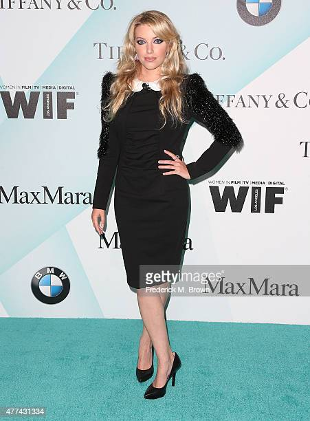 Actress Dalal Bruchmann attends the Women in Film 2015 Crystal Lucy Awards at the Hyatt Regency Century Plaza Hotel on June 16 2015 in Los Angeles...
