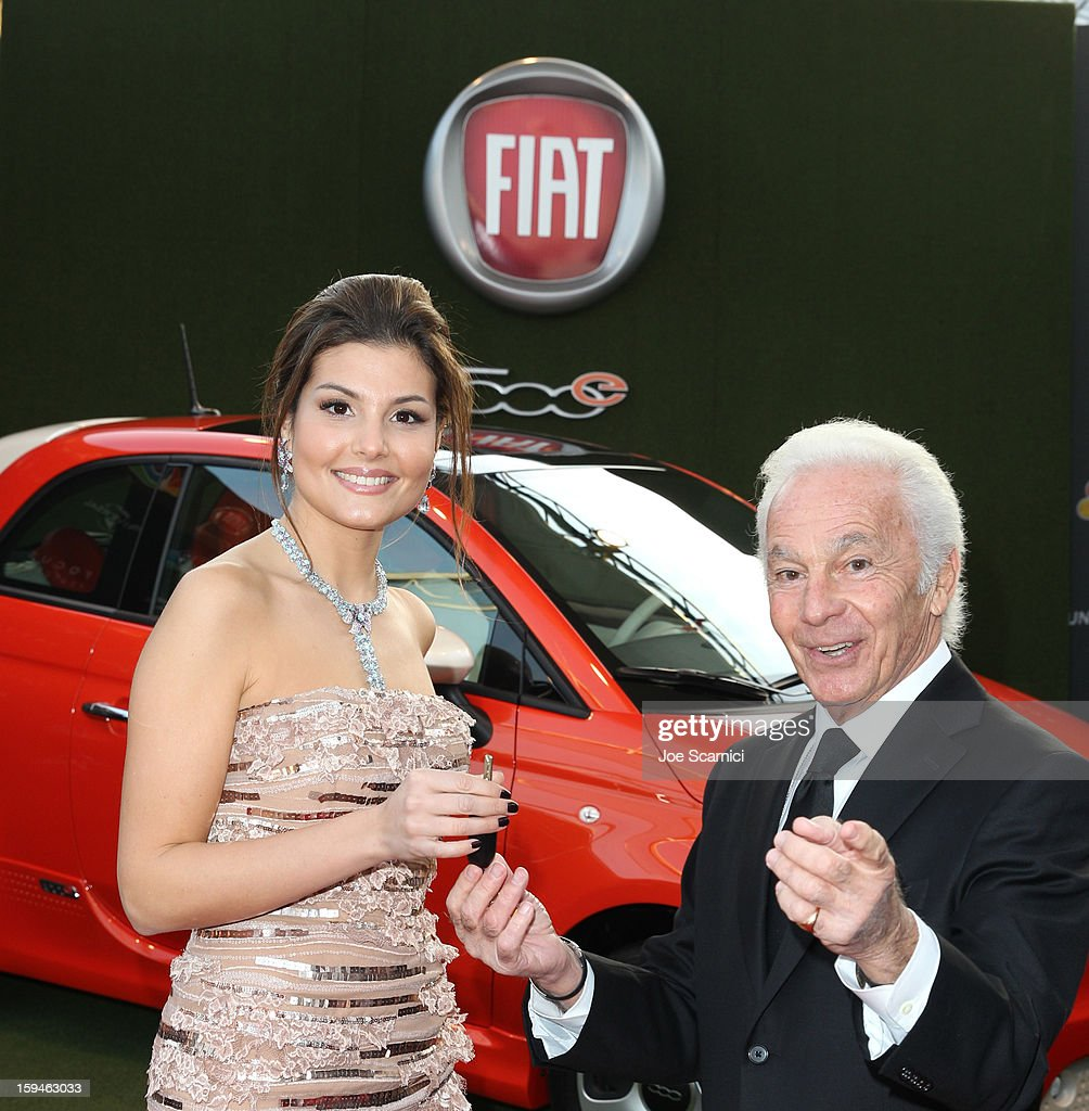 Actress Dalia Bayazid and president of Sutton Associates Joe Sutton attend Fiat's Into The Green at the 70th Annual Golden Globe Awards held at The Beverly Hilton Hotel on January 13, 2013 in Beverly Hills, California.