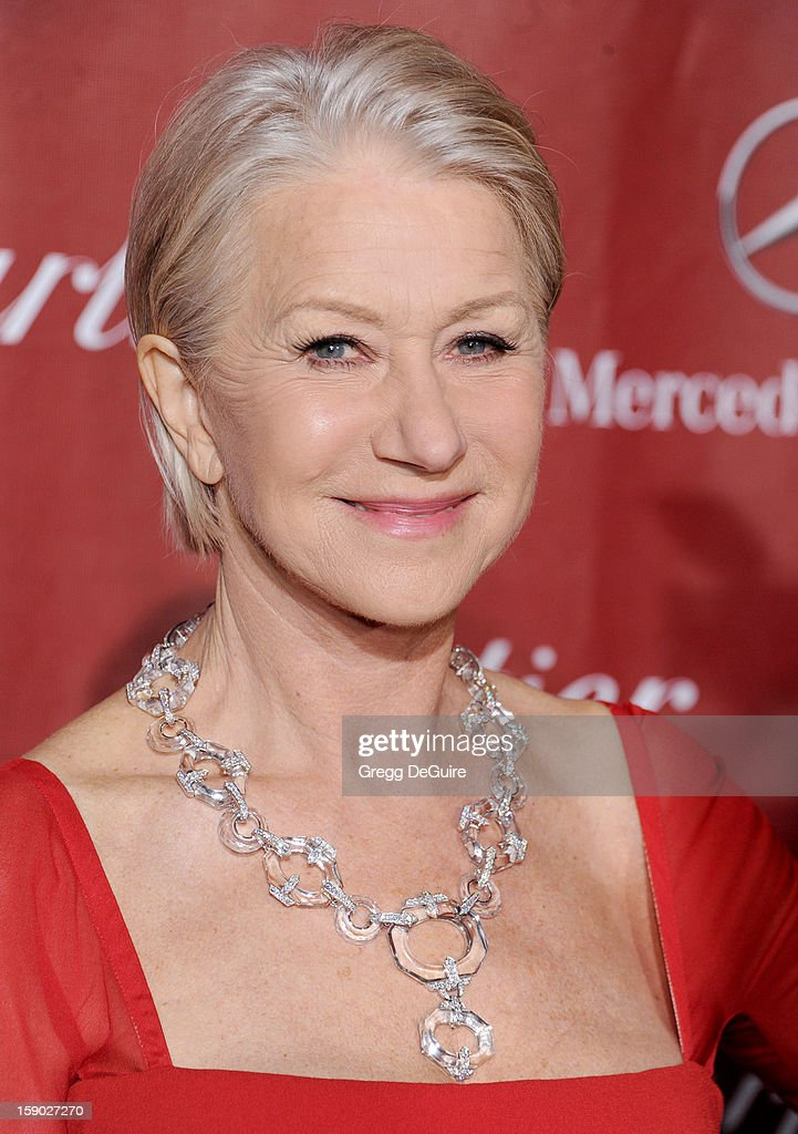 Actress Dame Helen Mirren arrives at the 24th Annual Palm Springs International Film Festival Awards Gala at Palm Springs Convention Center on January 5, 2013 in Palm Springs, California.