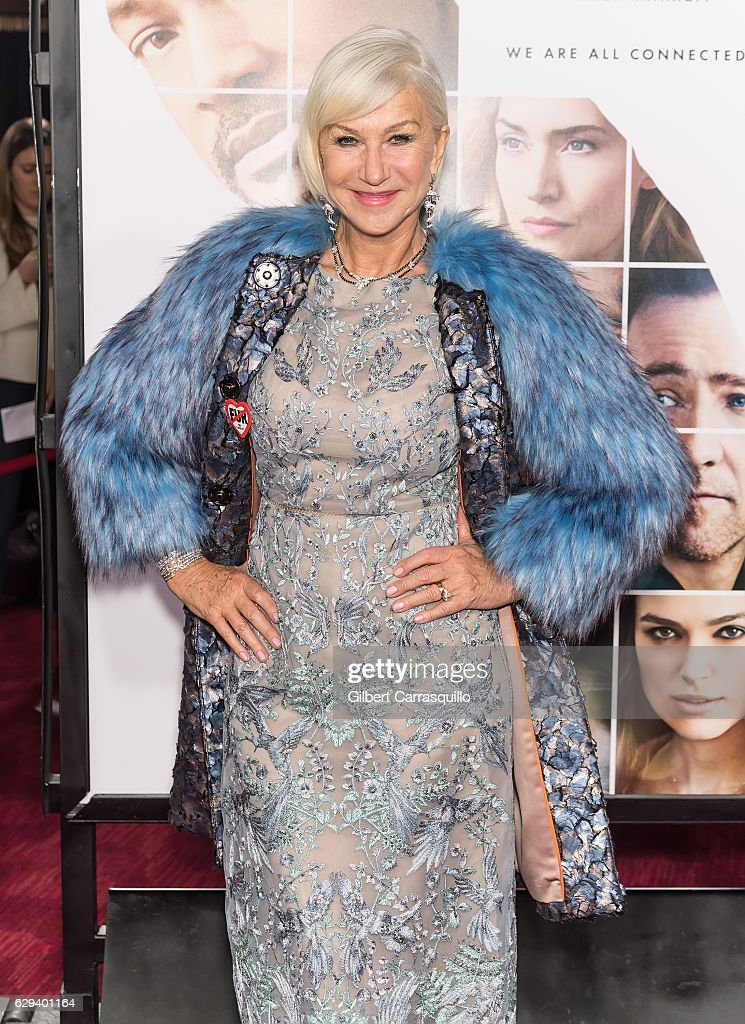 Actress Dame Helen Mirren attends 'Collateral Beauty' World Premiere at Frederick P. Rose Hall, Jazz at Lincoln Center on December 12, 2016 in New York City.
