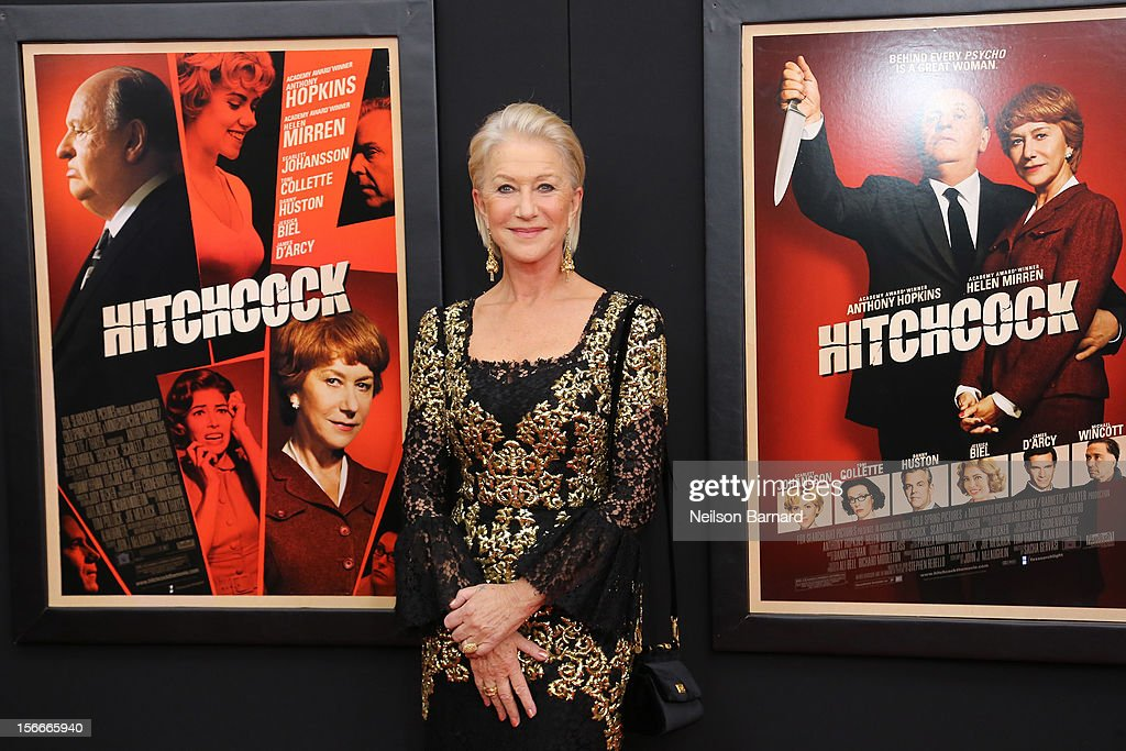 Actress Dame <a gi-track='captionPersonalityLinkClicked' href=/galleries/search?phrase=Helen+Mirren&family=editorial&specificpeople=201576 ng-click='$event.stopPropagation()'>Helen Mirren</a> attends the 'Hitchcock' New York Premiere at Ziegfeld Theater on November 18, 2012 in New York City.