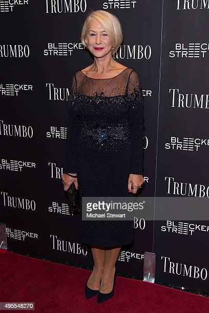 Actress Dame Helen Mirren attends the 'Trumbo' New York premiere at MoMA Titus Two on November 3 2015 in New York City