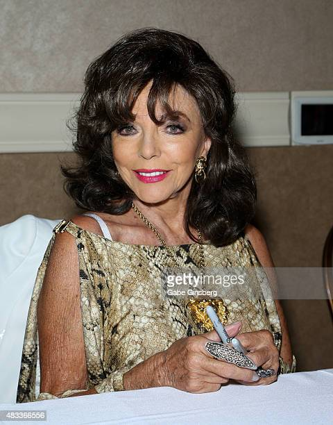 Actress Dame Joan Collins attends the 14th Annual Official Star Trek Convention at the Rio Hotel Casino on August 7 2015 in Las Vegas Nevada