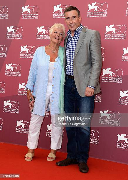Actress Dame Judi Dench and actor and screenwriter Steve Coogan attend the 'Philomena' Photocall during the 70th Venice International Film Festival...