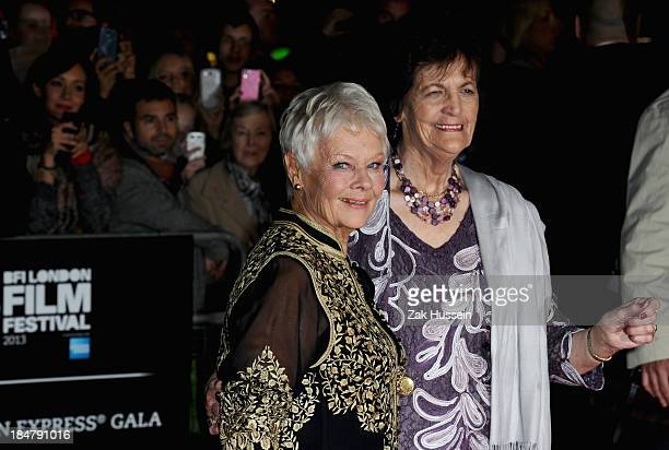 Actress Dame Judi Dench and Philomena Lee attend the 'Philomena' American Express Gala screening during the 57th BFI London Film Festival at Odeon...