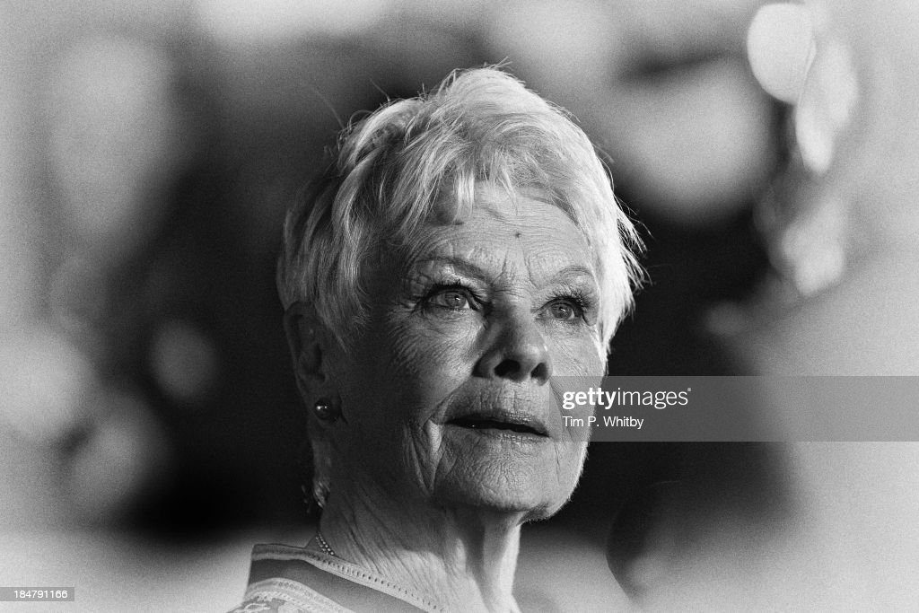 Actress Dame <a gi-track='captionPersonalityLinkClicked' href=/galleries/search?phrase=Judi+Dench&family=editorial&specificpeople=159424 ng-click='$event.stopPropagation()'>Judi Dench</a> attends a Gala sceening of 'Philomena' during the 57th BFI London Film Festival at Claridges Hotel on October 16, 2013 in London, England.