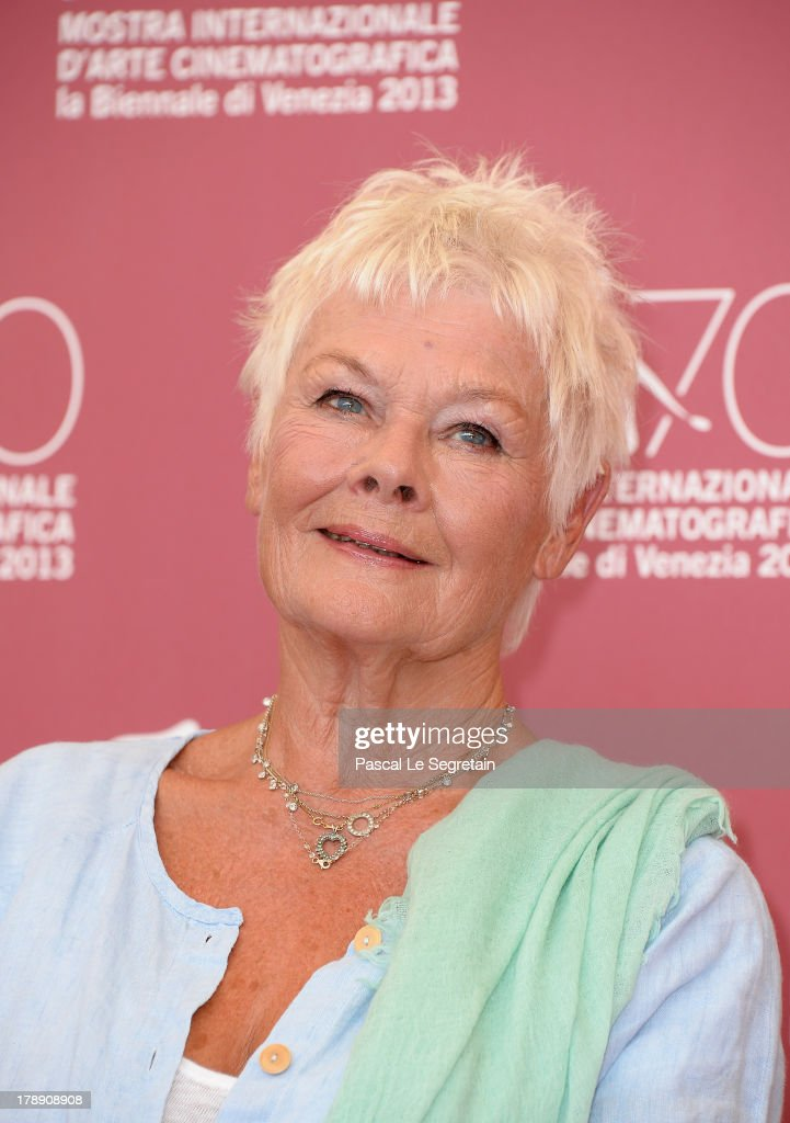 Actress Dame <a gi-track='captionPersonalityLinkClicked' href=/galleries/search?phrase=Judi+Dench&family=editorial&specificpeople=159424 ng-click='$event.stopPropagation()'>Judi Dench</a> attends 'Philomena' Photocall during the 70th Venice International Film Festival at the Palazzo del Casino on August 31, 2013 in Venice, Italy.