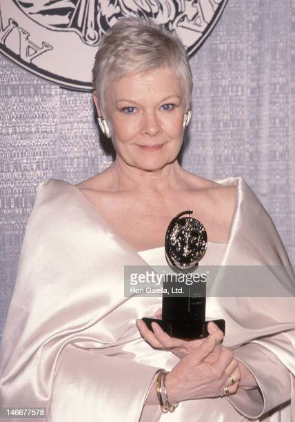 Actress Dame Judi Dench attends the 53rd Annual Tony Awards on June 6 1999 at the Gerswhin Theatre in New York City