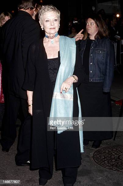 Actress Dame Judi Dench attends the 'Iris' New York City Premiere on December 2 2001 at the Paris Theatre in New York City