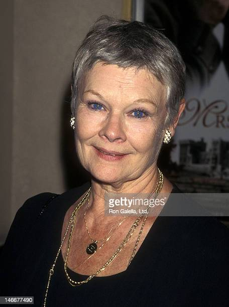 Actress Dame Judi Dench attends the 'Mrs Brown' New York City Premiere on July 9 1997 at the Tribeca Film Center in New York City