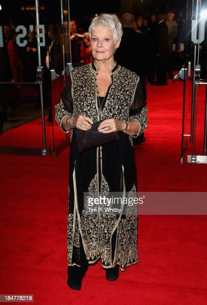 Actress Dame Judi Dench attends the 'Philomena' American Express Gala screening during the 57th BFI London Film Festival at Odeon Leicester Square on...