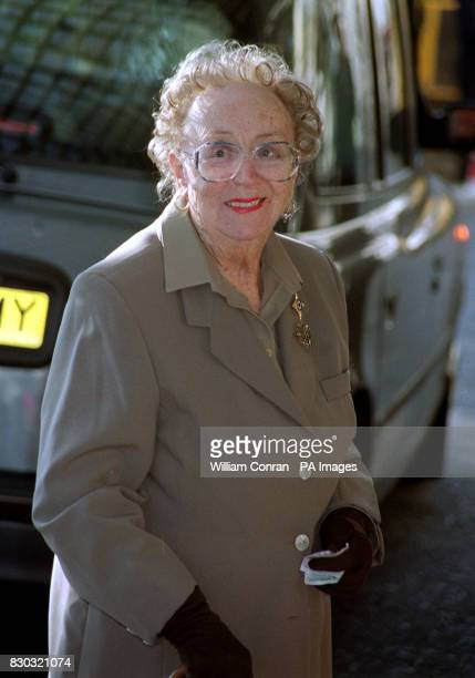 Actress Dame Thora Hird arriving at The Savoy Hotel in London for the 2000 South Bank Show awards Hird gives her backing to a Government drive to...