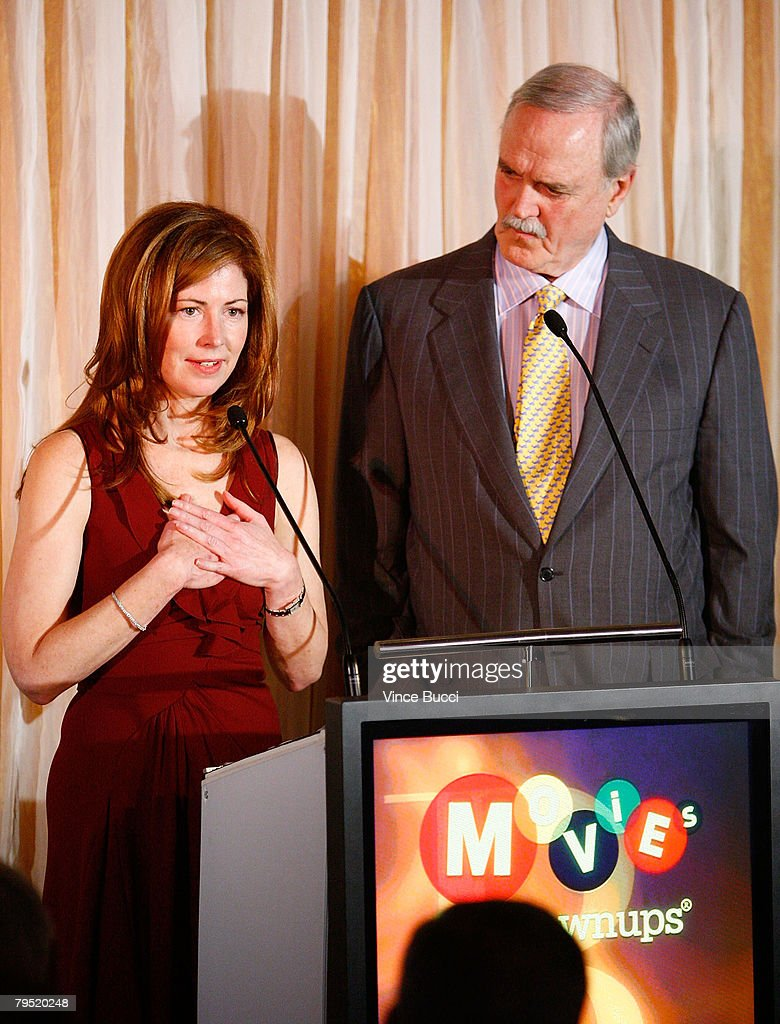 Actress Dana Delaney and actor John Cleese speak at the AARP The Magazine's Seventh Annual Movies For Grownups Awards at the Hotel Bel Air on February 4, 2008 in Los Angeles, California.