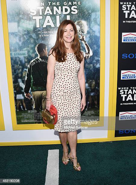 Actress Dana Delaney arrives at the premire of Tri Star Pictures' ' When The Game Stands Tall' at the ArcLight Cinemas on August 4 2014 in Hollywood...