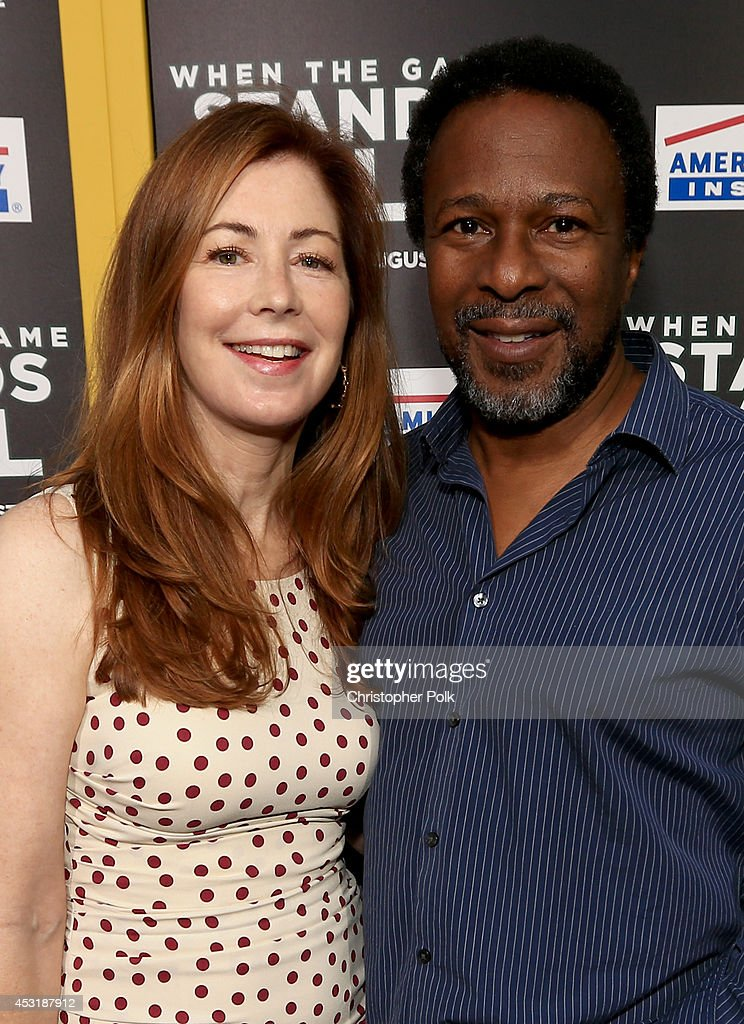 Actress <a gi-track='captionPersonalityLinkClicked' href=/galleries/search?phrase=Dana+Delany&family=editorial&specificpeople=238900 ng-click='$event.stopPropagation()'>Dana Delany</a> (L) and director Thomas Carter attend the premiere of Tri Star Pictures' 'When The Game Stands Tall' at ArcLight Cinemas on August 4, 2014 in Hollywood, California.