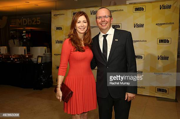 Actress Dana Delany and IMDb founder and CEO Col Needham attend IMDb's 25th Anniversary Party cohosted by Amazon Studios presented by VISINE at...
