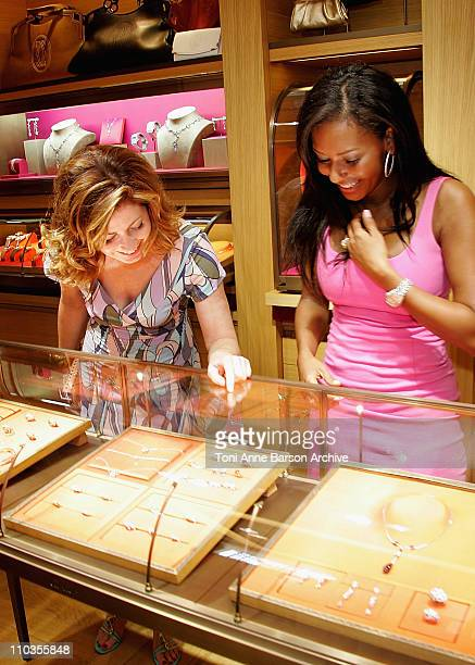 Actress Dana Delany and singer Mel B as they shop with Access Hollywood at the Cartier store on June 11 in Monte Carlo Principality of Monaco