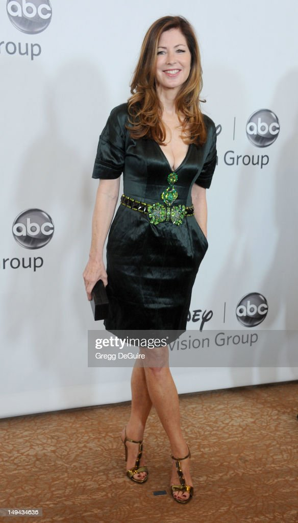 Actress Dana Delany arrives at the 2012 Disney ABC Television TCA summer press tour party at The Beverly Hilton Hotel on July 27, 2012 in Beverly Hills, California.