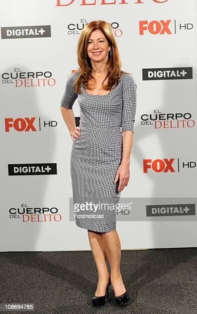 Actress Dana Delany attends a photocall for 'El Cuerpo del Delito' tv series at AC Palacio del Retiro Hotel on February 1 2011 in Madrid Spain