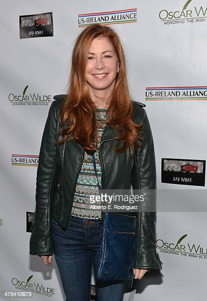 Actress Dana Delany attends the 9th Annual 'Oscar Wilde Honoring The Irish In Film' PreAcademy Awards event at Bad Robot on February 27 2014 in Santa...