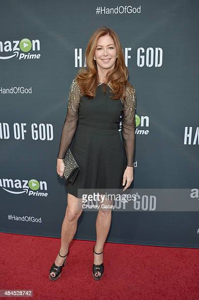 Actress Dana Delany attends the Amazon premiere screening for original drama series 'Hand Of God' at The Theatre at Ace Hotel on August 19 2015 in...