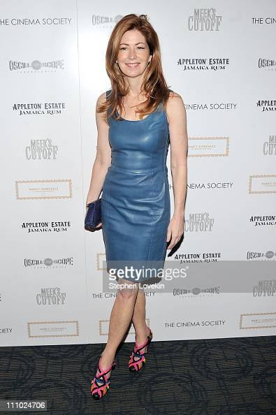 Actress Dana Delany attends The Cinema Society Nancy Gonzalez screening of 'Meek's Cutoff' at Landmark Sunshine Cinema on March 28 2011 in New York...
