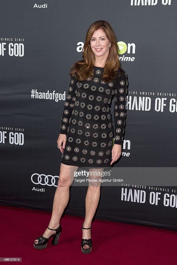 Actress Dana Delany attends the German premiere of the TV show 'Hand of God' on August 31 2015 in Berlin Germany