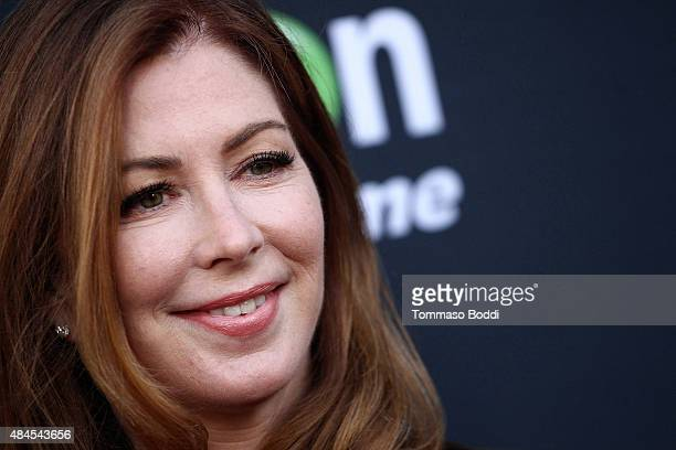 Actress Dana Delany attends the premiere of Amazon's series 'Hand Of God' held at the Ace Theater Downtown LA on August 19 2015 in Los Angeles...