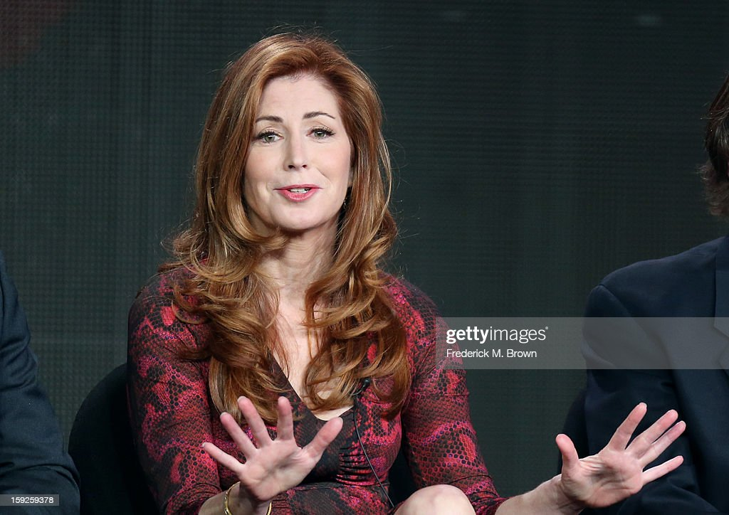 Actress Dana Delany of 'Body of Proof' speaks onstage during the ABC portion of the 2013 Winter TCA Tour at Langham Hotel on January 10, 2013 in Pasadena, California.