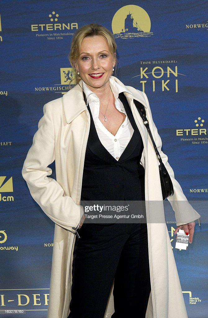 Actress Dana Golombek attends the 'Kon-Tiki' Premiere at Kino International on March 6, 2013 in Berlin, Germany.