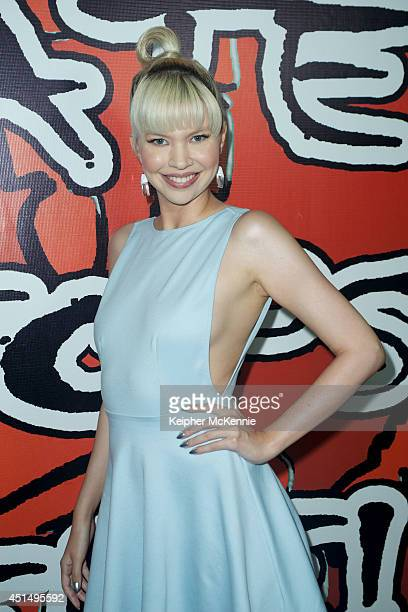 Actress Dana Peden attends BET Awards red carpet viewing party hosted by AntiBully Group Hate Stops Here at Infusion Lounge on June 29 2014 in...