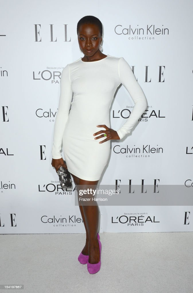 Actress Danai Gurira arrives at ELLE's 19th Annual Women In Hollywood Celebration at the Four Seasons Hotel on October 15, 2012 in Beverly Hills, California.