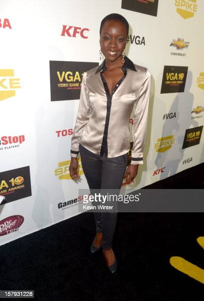 Actress Danai Gurira arrives at Spike TV's 10th annual Video Game Awards at Sony Pictures Studios on December 7 2012 in Culver City California
