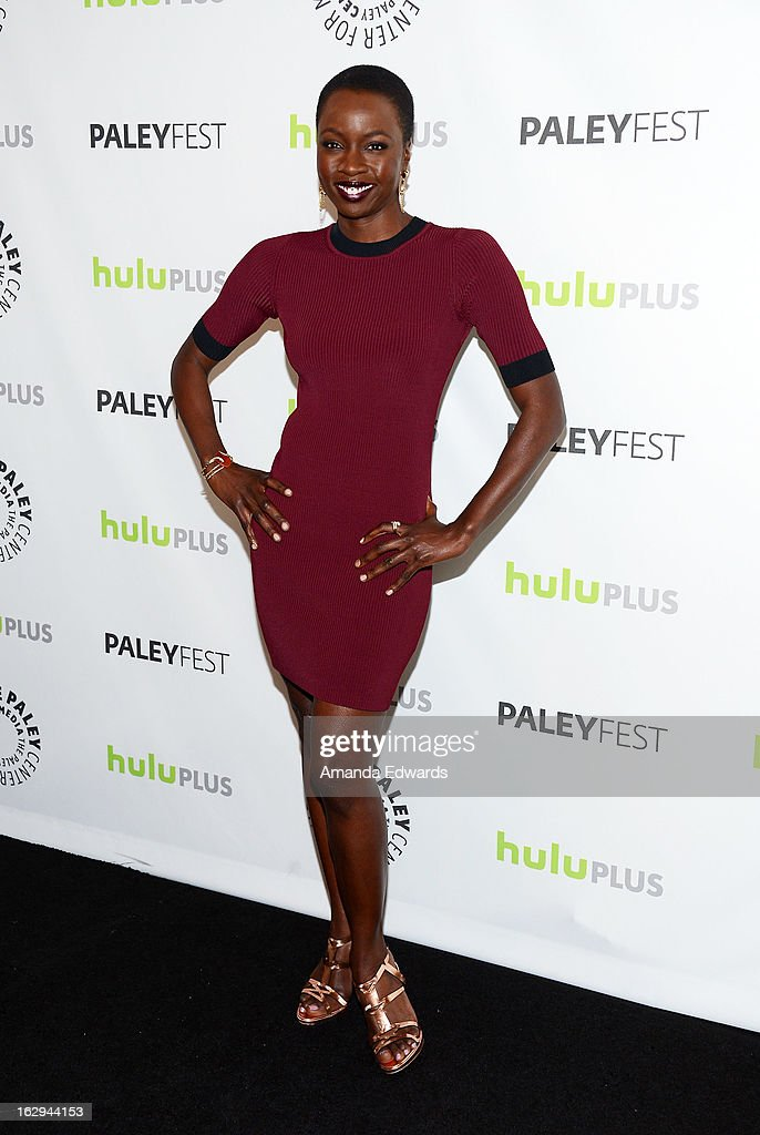 Actress Danai Gurira arrives at the 30th Annual PaleyFest: The William S. Paley Television Festival featuring 'The Walking Dead' at Saban Theatre on March 1, 2013 in Beverly Hills, California.