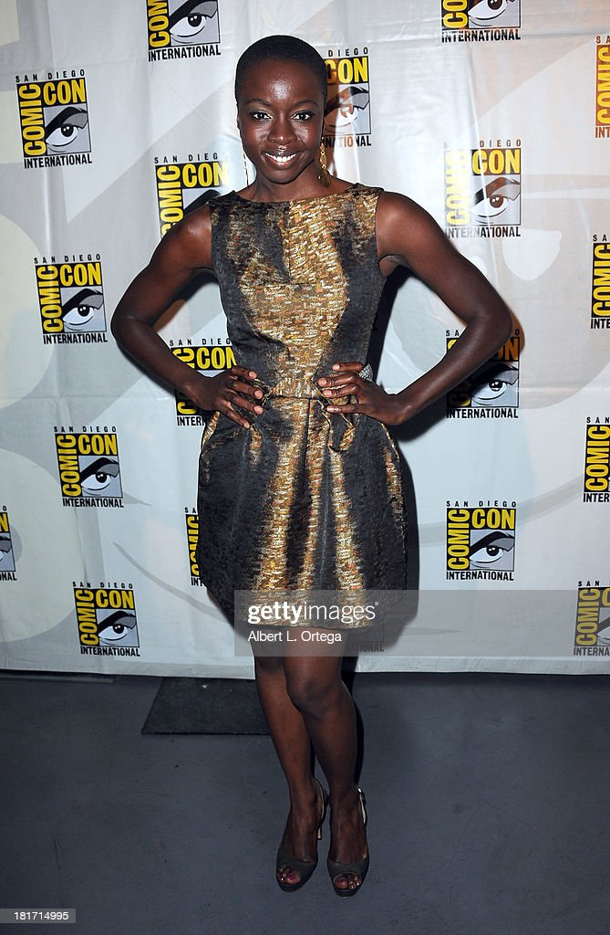 Actress <a gi-track='captionPersonalityLinkClicked' href=/galleries/search?phrase=Danai+Gurira&family=editorial&specificpeople=4488413 ng-click='$event.stopPropagation()'>Danai Gurira</a> attends AMC's 'The Walking Dead' Panel as part of Comic-Con International 2013 held at San Diego Convention Center on Friday July 19, 2012 in San Diego, California.