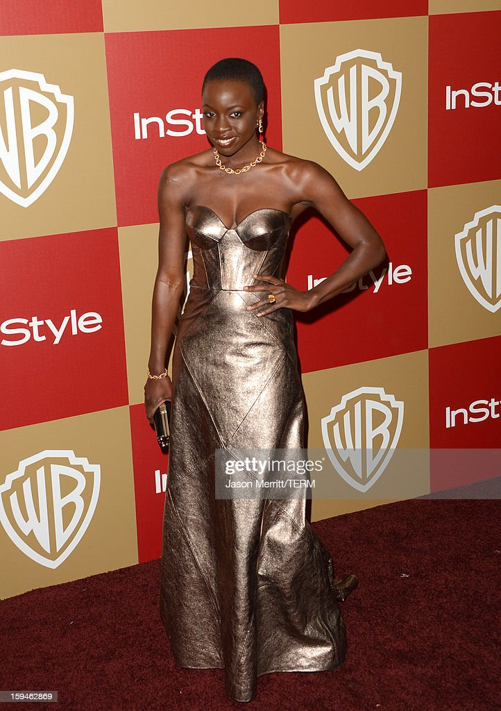 Actress Danai Gurira attends the 14th Annual Warner Bros. And InStyle Golden Globe Awards After Party held at the Oasis Courtyard at the Beverly Hilton Hotel on January 13, 2013 in Beverly Hills, California.