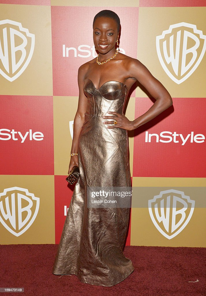 Actress Danai Gurira attends the 2013 InStyle and Warner Bros. 70th Annual Golden Globe Awards Post-Party held at the Oasis Courtyard in The Beverly Hilton Hotel on January 13, 2013 in Beverly Hills, California.