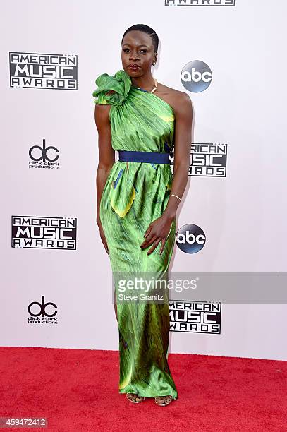 Actress Danai Gurira attends the 2014 American Music Awards at Nokia Theatre LA Live on November 23 2014 in Los Angeles California