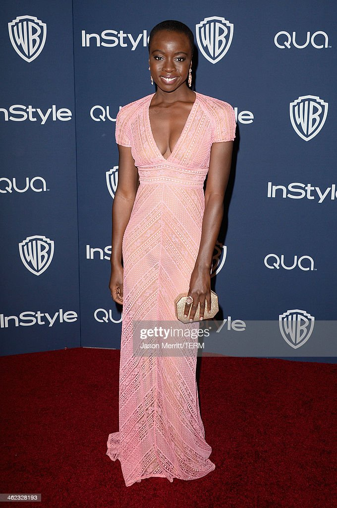 Actress <a gi-track='captionPersonalityLinkClicked' href=/galleries/search?phrase=Danai+Gurira&family=editorial&specificpeople=4488413 ng-click='$event.stopPropagation()'>Danai Gurira</a> attends the 2014 InStyle and Warner Bros. 71st Annual Golden Globe Awards Post-Party on January 12, 2014 in Beverly Hills, California.