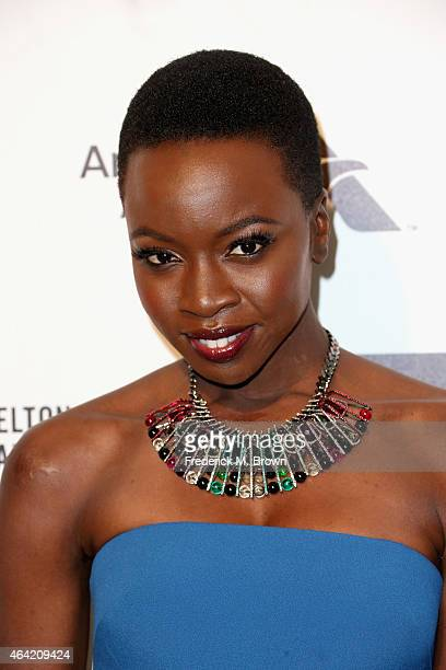 Actress Danai Gurira attends the 23rd Annual Elton John AIDS Foundation's Oscar Viewing Party on February 22 2015 in West Hollywood California