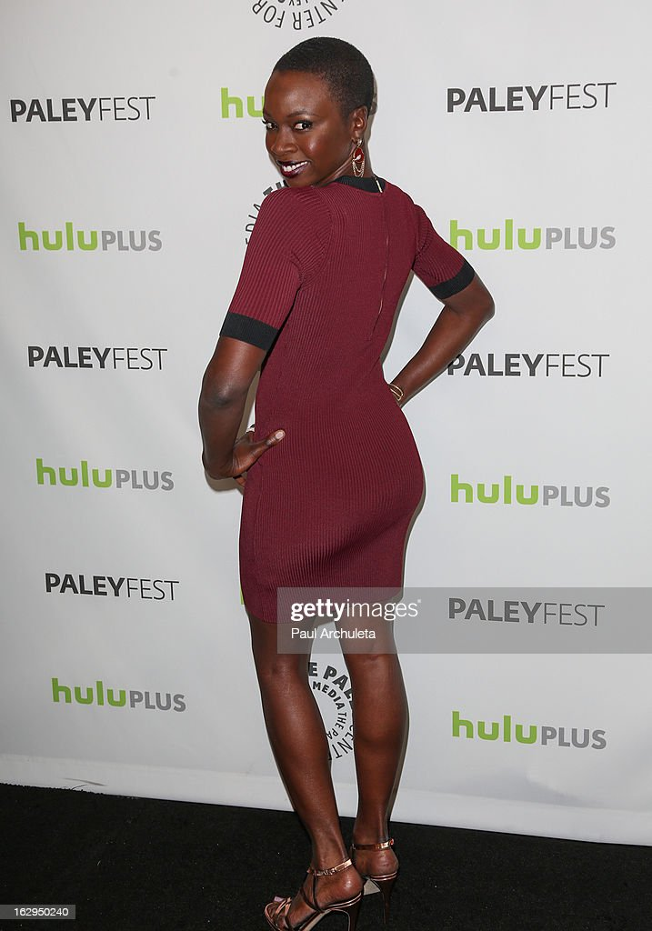 Actress Danai Gurira attends the 30th Annual PaleyFest featuring the cast of 'The Walking Dead' at Saban Theatre on March 1, 2013 in Beverly Hills, California.