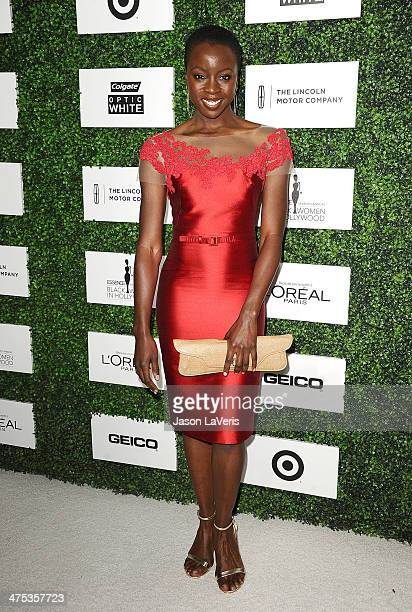 Actress Danai Gurira attends the 7th annual ESSENCE Black Women In Hollywood luncheon at Beverly Hills Hotel on February 27 2014 in Beverly Hills...