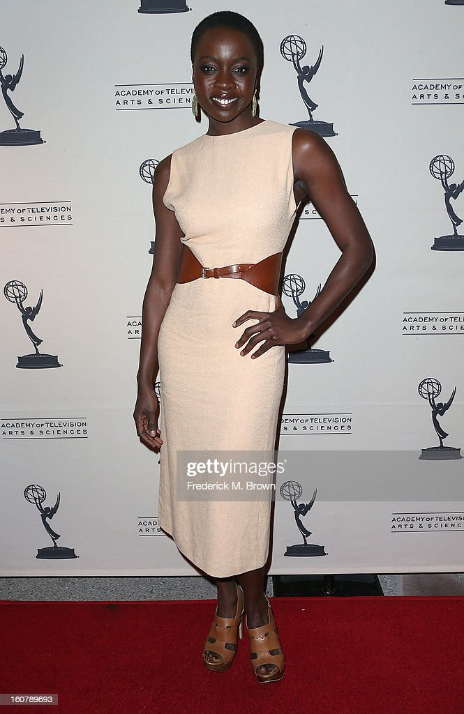 Actress Danai Gurira attends The Academy Of Television Arts & Sciences Presents An Evening With 'The Walking Dead' at the Leonard H. Goldenson Theatre on February 5, 2013 in North Hollywood, California.