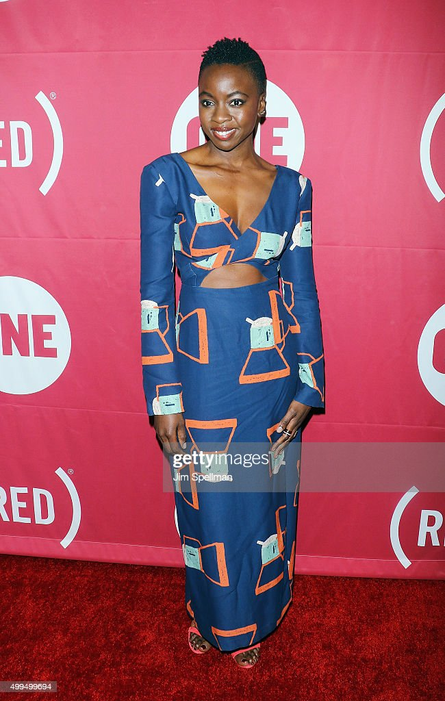 Actress Danai Gurira attends the ONE And (RED)'s 'It Always Seems Impossible Until It Is Done' at Carnegie Hall on December 1, 2015 in New York City.