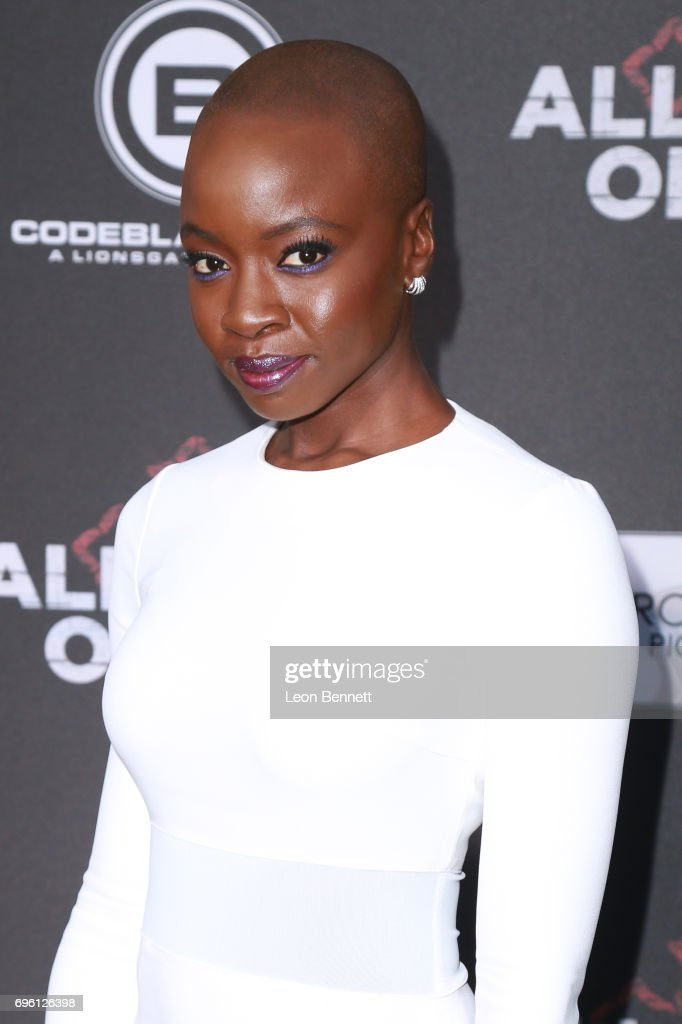 Actress Danai Gurira attends the premiere of Lionsgate's 'All Eyez On Me' at the Westwood Village Theatres on June 14, 2017 in Los Angeles, California.