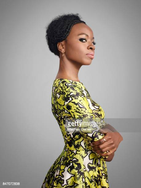 Actress Danai Gurira from 'Black Panther' is photographed for Entertainment Weekly Magazine on July 23 2016 at Comic Con in the Hard Rock Hotel in...